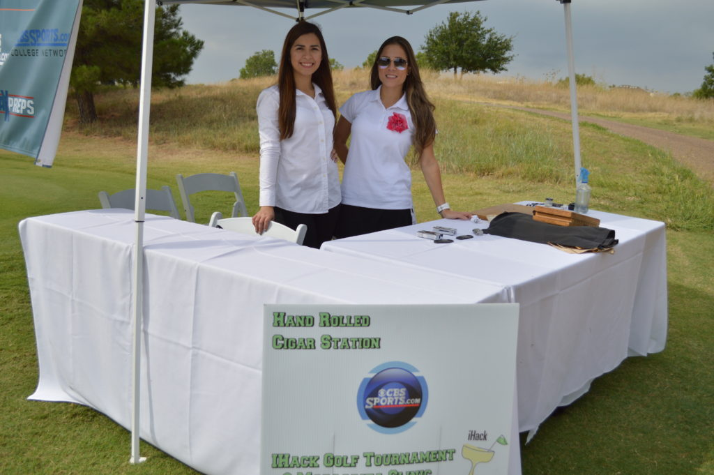 Cigar hostesses at golf tournament