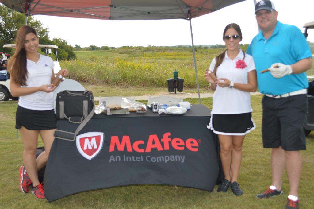 cigar hostesses at McAfee golf tournament